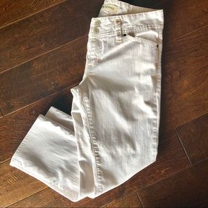Gap low rise crop white jeans